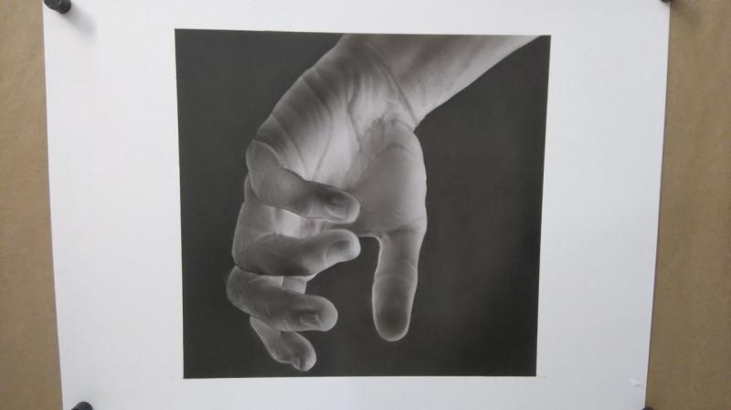 Main noire et blanc