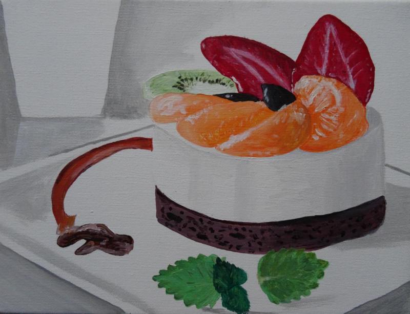 Bavarois aux fruits