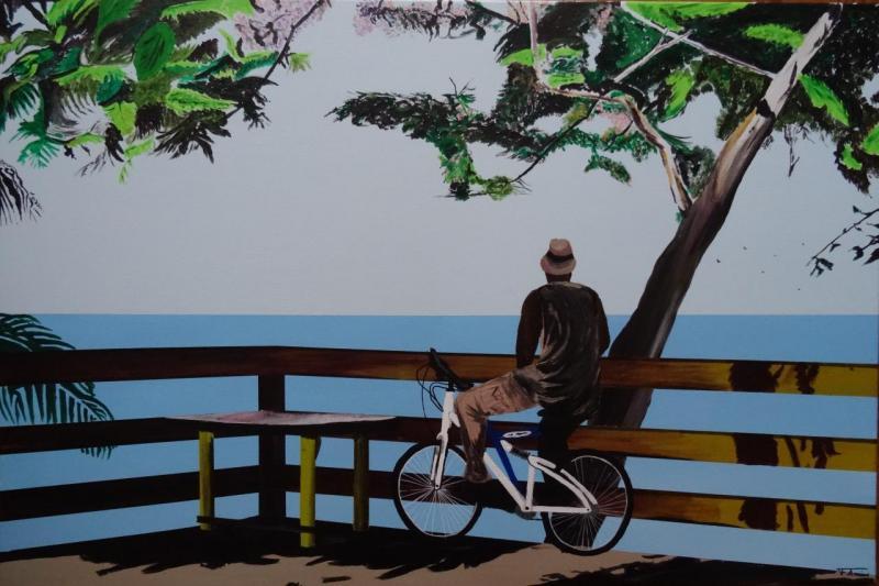 L'homme à vélo