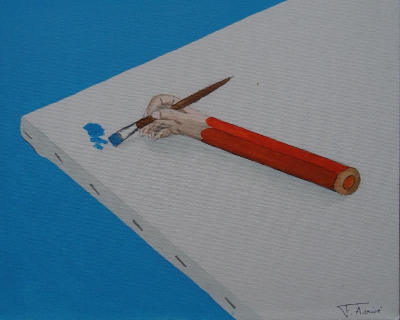 Le crayon main