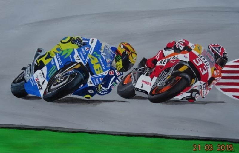 Rossi et Marquez