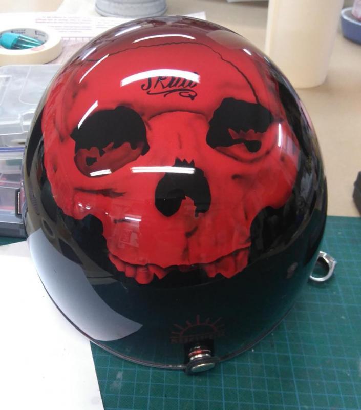 skull sur casque